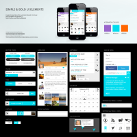 Designer First Simple & Bold UI Elements (PSD) - Designer First