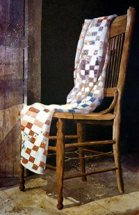 """Sunday School Quilt""  Giclee Print Available  -Watercolors, Oils, Mixed Mediums by Jerry ELlis AWS"