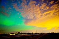 Photos: Multicolored Auroras Sparked by Double Sun Blast