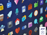 Free Flat Icons by Studio4