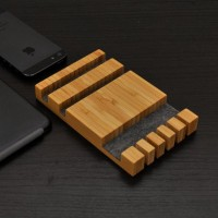 Wooden Docking Station With Cable Organizer | Accessory Spotter