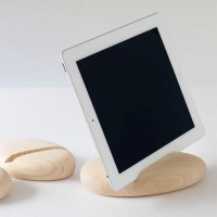 Calm Wooden iPad Stand | On The Stroke