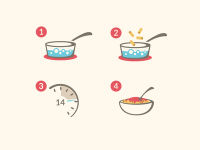 Cooking Instructions Icons by Tyler Somers