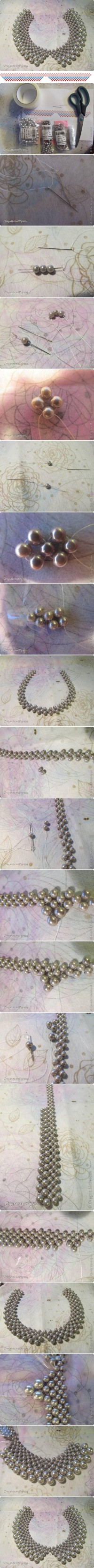 DIY Collar of Beads Necklace DIY Projects | UsefulDIY.com