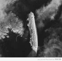 9GAG - Costa Concordia from space