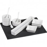 11-piece slate serving set in serving pieces | CB2