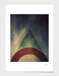 "Fancy - ""triangle half circle"" - Art Print - danny ivan 