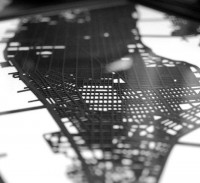 Fancy - Laser Cut New York City Street Map