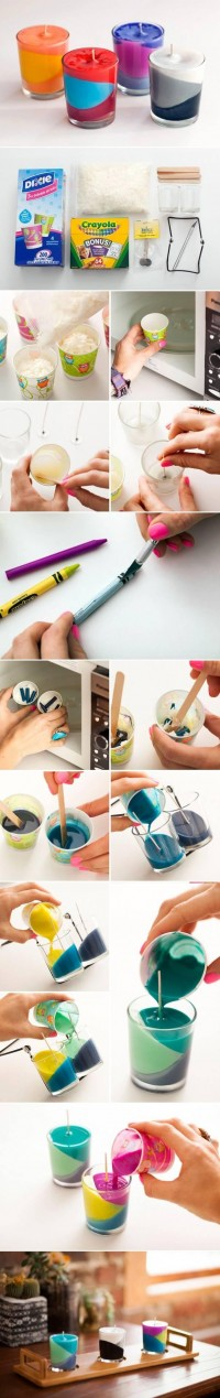 DIY Multi-Color Candle DIY Projects | UsefulDIY.com