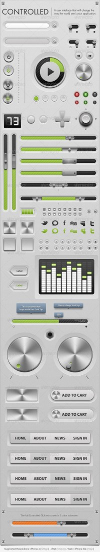 Web Elements - Controlled - GUi - Graphical User Interface - GraphicRiver