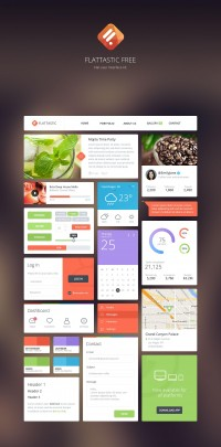 Free Download: Flattastic UI kit | Webdesigner Depot