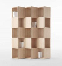 Cubist Storage Systems - The Fold Bookcase's Cubbies Face Two Directions Simultaneously (GALLERY)