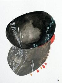 Heavy Rain 1 Original Abstract Watercolour by theblackbirdsings