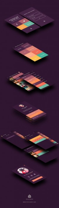 UltraUI — The UI of the TriplAgent iPhone app uses colour...