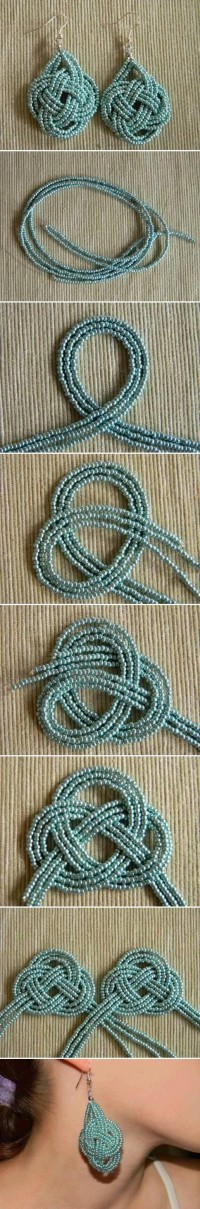 DIY Beads Knot Earrings DIY Projects | UsefulDIY.com