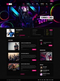 Remix - Music & Band PSD Template - ThemeForest Previewer