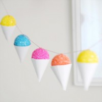 DIY Faux Snow Cone Party Garland & Gift Embellishment | Creature ComfortsCreature Comforts