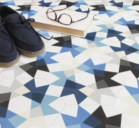Playfully random Keidos floor tiles by MUT Design - The Fox Is Black