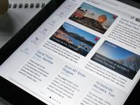 News Screen (iPad UX/UI) by Oykun