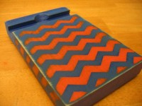 Retro Chevron Wood IPad stand by TapenCut on Etsy