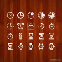 Clock and Watch PSD Icon Set - Free Icons