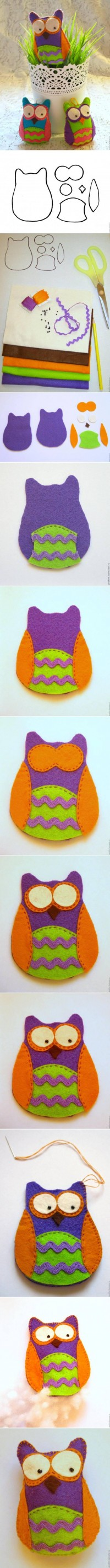 DIY Pretty Felt Owl DIY Projects | UsefulDIY.com