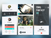Final Fantasy 7 UI kit by Vikiiing