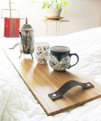 Breakfast in Bed Tray with bamboo recycled by BlisscraftandBrazen