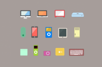 12 Flat Apple Product Icons | PixelsDaily