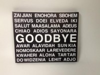 Black and White Goodbye Multiple Different Language by DandWWoods