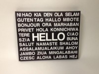 Black and White Hello Multiple Different Language by DandWWoods