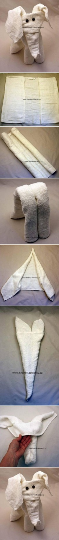 DIY Easy Towel Elephant DIY Projects | UsefulDIY.com