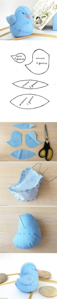 DIY Little Fabric Bird Doll DIY Projects | UsefulDIY.com