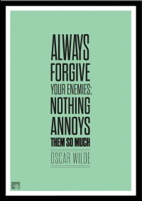 Oscar Wilde quote print poster art typography modern by LabNo4