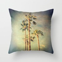 palms Throw Pillow by Sylvia Cook Photography | Society6
