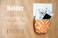 Cell Phone Charging Holder DIY Tutorial | Hip Home Making