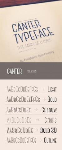 Canter free font | Fontfabric™