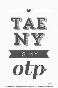 Taeny is my OTP 11x17 custom typography print by vbtypography