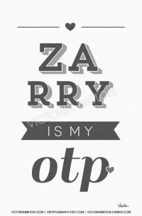 Zarry is my OTP 11x17 custom typography print by vbtypography