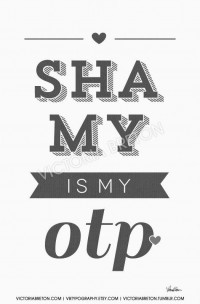 Shamy is my OTP 11x17 custom typography print by vbtypography