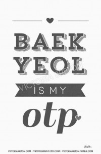 Baekyeol is my OTP 11x17 custom typography print by vbtypography