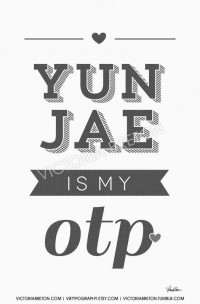 Yunjae is my OTP 11x17 custom typography print by vbtypography