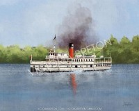 RMS Segwun 11 x 14 Digital Painting Print by vbdigitalpaintings