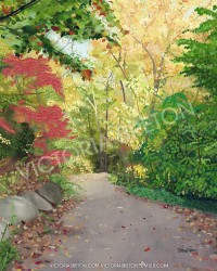 Elaine's Path 8 x 10 Digital Painting Print by vbdigitalpaintings