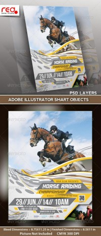 Horse Riding Flyer/Poster Template (Print Templates) | GFX Database