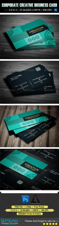 Corporate Creative Business Card-10 (Creative) | GFX Database