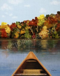 Canoeing 8 x 10 Digital Painting Print by vbdigitalpaintings
