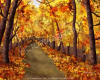 Autumn Afternoon 8 x 10 Digital Painting by vbdigitalpaintings