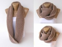 knitted infinity scarf knitted women scarves Block by seno