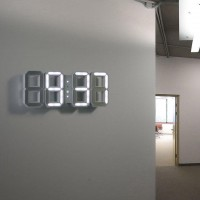 Fancy - White & White LED Clock